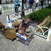 Istanbul shoe shine equipment