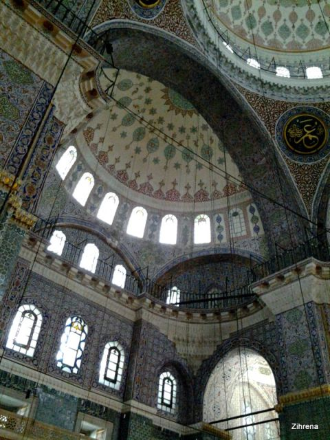 Inside the New Mosque, Istanbul