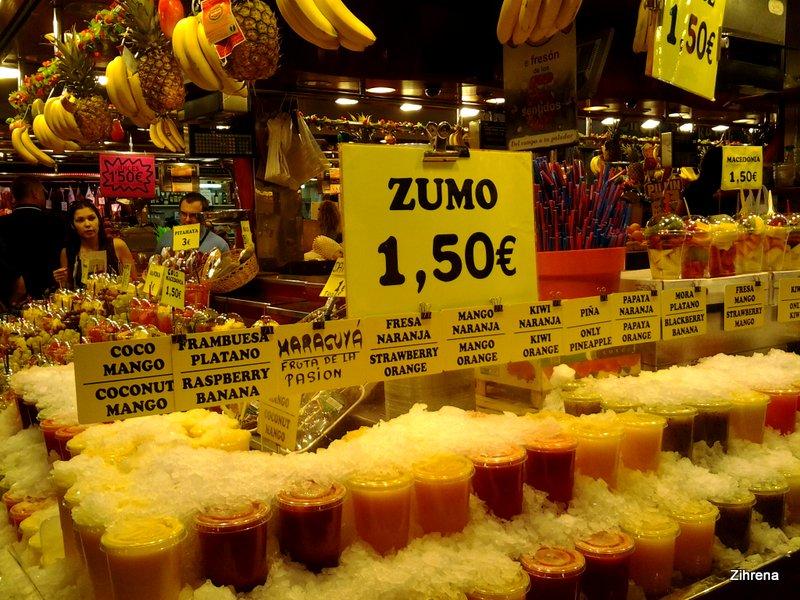 Juice stand, Barcelona