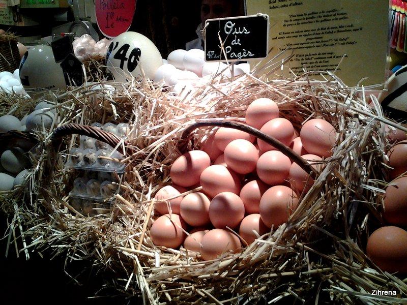 Fresh eggs, Barcelona market
