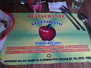 Restaurante Vegetariano, Mexico City