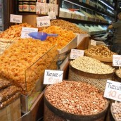 Dried fruits and nuts, Istanbul, Turkey