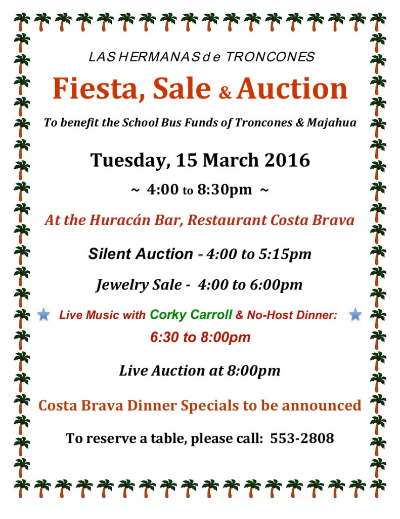 Troncones Auction fundraiser 2016